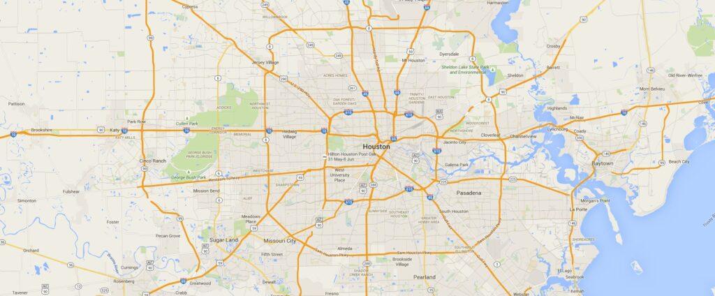 Google Map Houston Texas Indiana Map